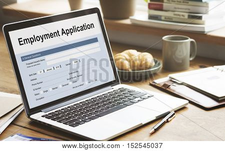 Employment Application Agreement Form Concept