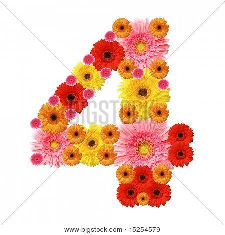 4, arabische Ziffer
