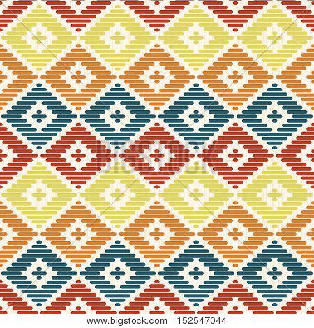 Geometric Seamless Pattern. Kogin Embroidery Style