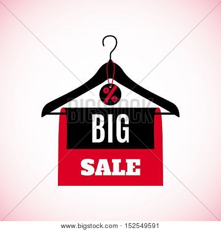 Big Sale creative label for Black friday, Cyber monday or other sales isolated on white background. Vector illustration