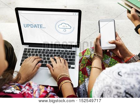Update Cloud Storage Data Information Concept