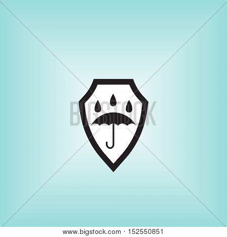 Waterproof vector icon. Isolated waterproof vector sign. Water proof vector illustration logo. Umbrella vector sign.