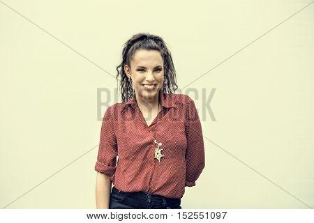 Caucasian Ethnicity Beautiful Cheerful Portrait Concept