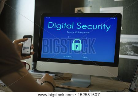 Locked Privacy Security System Protection Concept