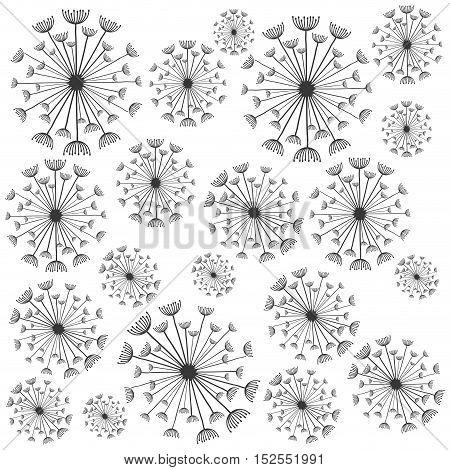 dandelion seed decoration icon vector illustration design
