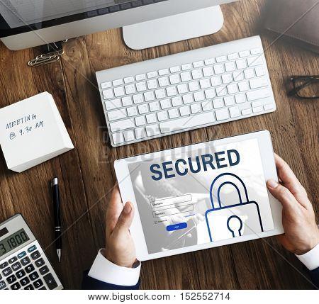 Secured Log In User Password Register Concept
