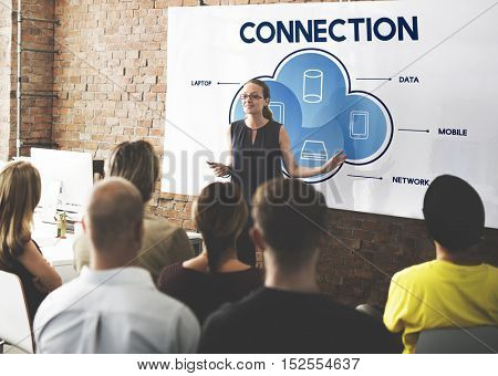 Connection Cloud Network Communication Concept