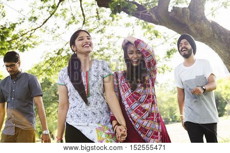 Indian Ethnicity Park Companionship Friend Concept