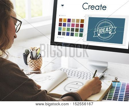Create Inspiration Design Logo Concept