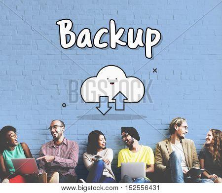 Online Storage Cloud Graphic Concept