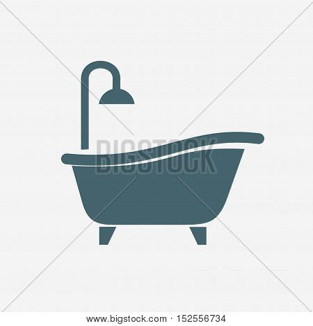 shower vector icon isolated on white background