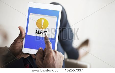 Alert Notification Exclamation Point Graphic Concept
