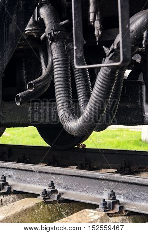 Wagon Hitch Sagging Hoses Background