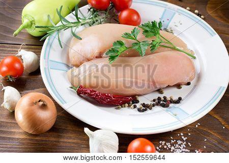 Healthy food - chicken breast (fresh chicken meat)