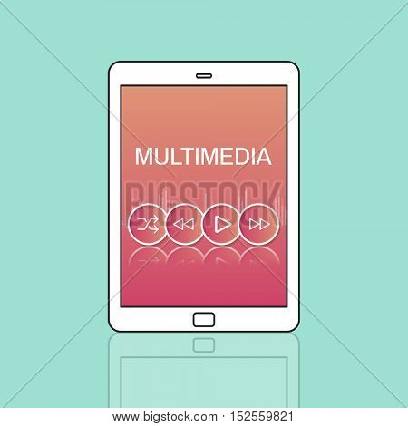 Multimedia Buttons Icons Interface Concept