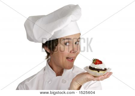 Chef With Strawberry Tart