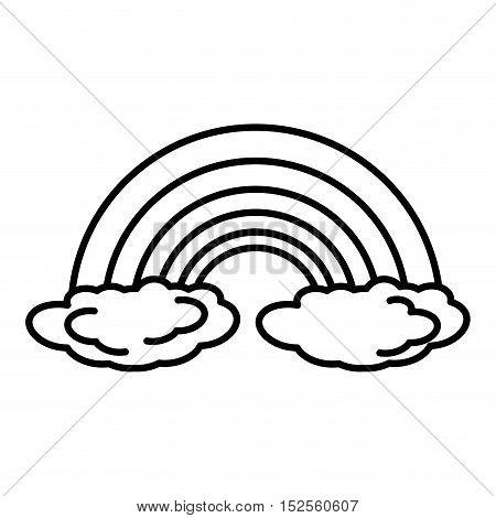 rainbown climate symbol isolated icon vector illustration design