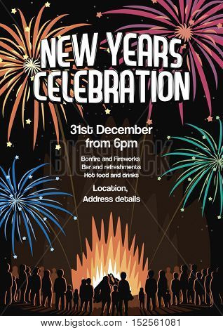 New Years Eve Celebration Flyer Vector Illustration Poster