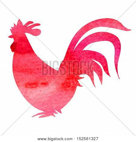 rooster illustration isolated on white background cute cartoon rooster image monochrome vector icon chinese new year 2017 symbol horoscope emblem for holiday card hand drawn silhouette