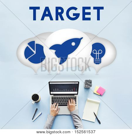Business Entrepreneur Target Strategy Concept
