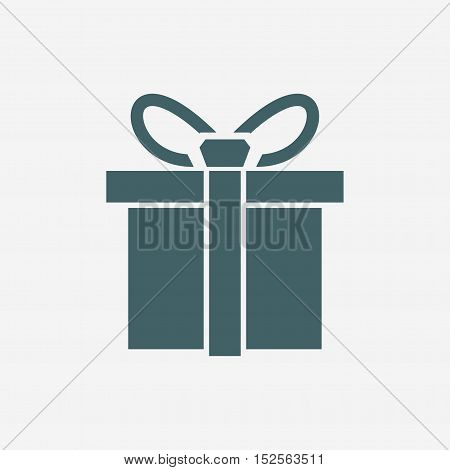 present vector icon isolated on white background