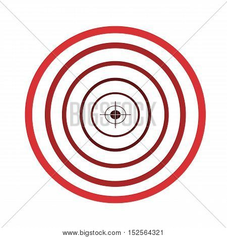 Abstract circle with target. Geometric shapes circle for the decoration of textiles and backgrounds.