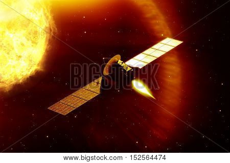 3d rendering of a mission to the sun