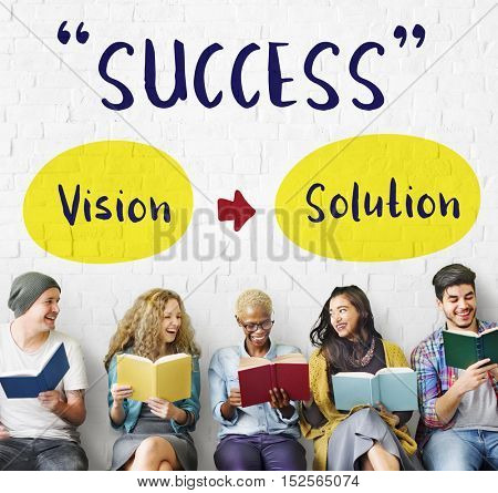 Success Strategy Vision Solution Graphic Concept