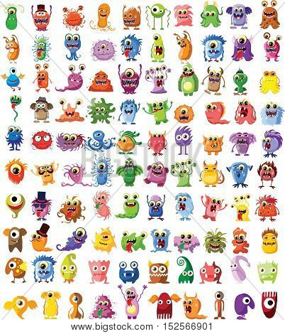 Cartoon cute monsters, illustration picture for your design