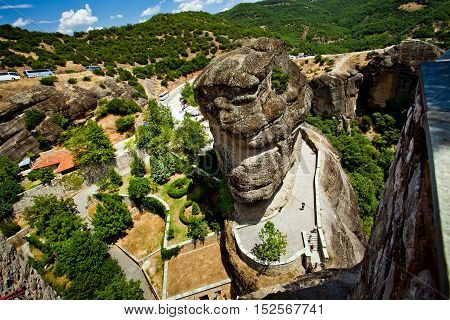 Meteora Rock Formations. One of the largest complexes of monasteries in Greece