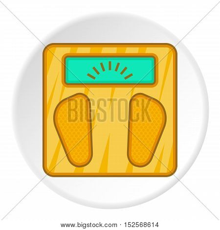 Scales icon. Flat illustration of scales vector icon for web