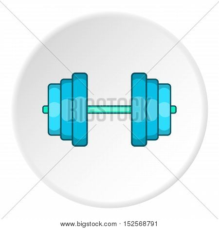 Dumbbell icon. Flat illustration of dumbbell vector icon for web