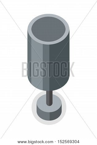 Street trash urn vector illustration Isolated on white background.