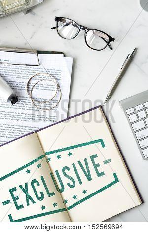 Business Exclusive Premium Assurance Concept