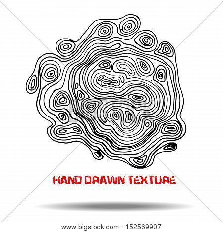 Ink hand drawn texture. Psychedelic monochrome background. Marble pattern. Vector illustration