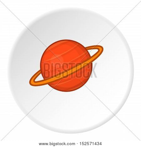 Saturn icon. Flat illustration of saturn vector icon for web