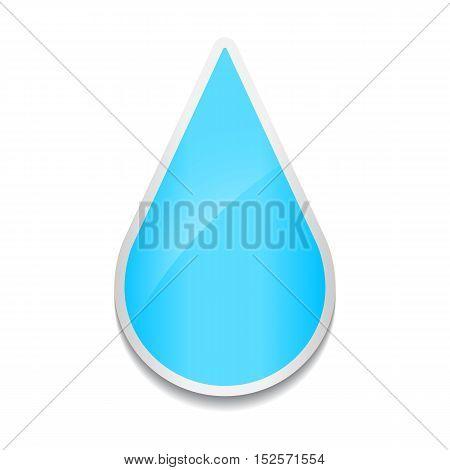 Water drop icon. Sticker on white background.