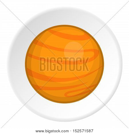 Planet icon. Cartoon illustration of planet vector icon for web