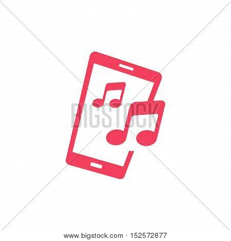 Mobile Music and Audio Applications themed. Smartphone creative design icon