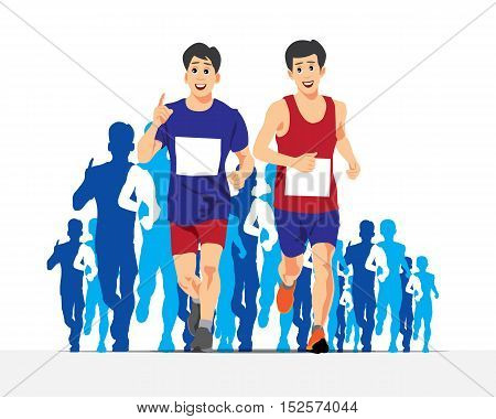 Running People Vector Concept