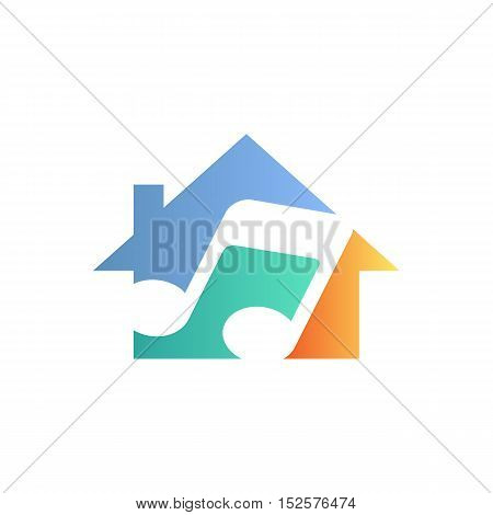 House of music themed. Symbol vector illustration