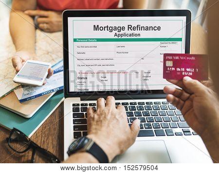Mortgage Refinance Application Cash Loan Concept