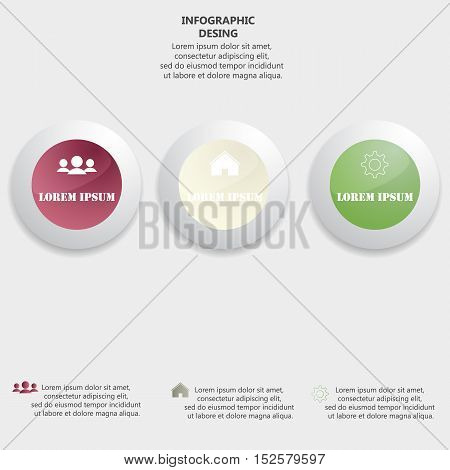 Glossy Colorful Plastic Buttons For Infographic, Numbered Banners,graphic Or Website Layout Vector,