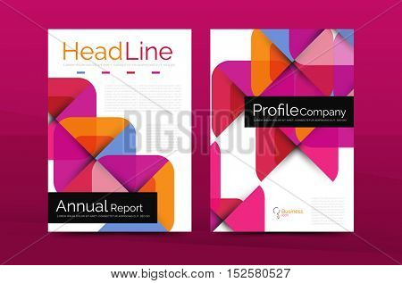 Business company profile brochure template, vector corporate brochure design