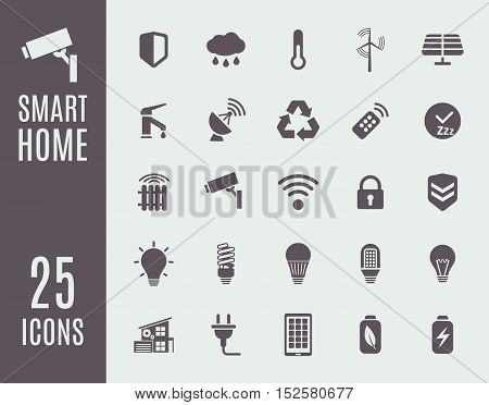 Smart home icon set. Automation control systems. Vector illustration.