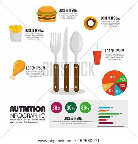 nutritions infographic presentation icons vector illustration design