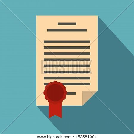 Legal form icon. Flat illustration of legal form vector icon for web isolated on light blue background