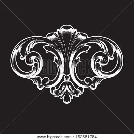 Vintage ornamen, baroque ornament, scroll ornament ,engraving ornament, border ornament, floral ornament, retro ornament, pattern ornament, antique ornament, style acanthus ornament, foliage swirl ornament, decorative ornament.  vector