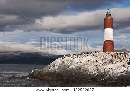 Lighthouse in the beagle channel is the southernmost in the world