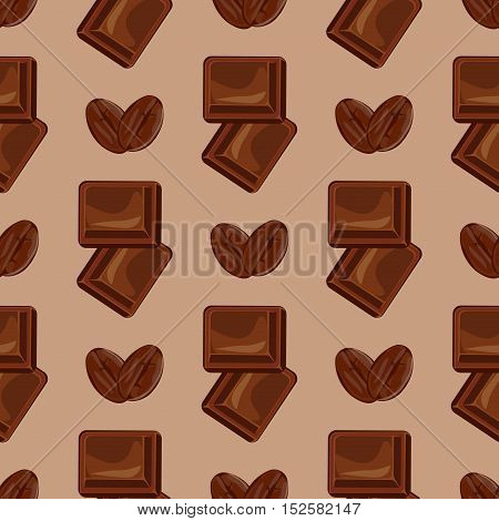 Milk chocolate seamless pattern vector geometric shape. Vector brown Chocolate pattern design texture seamless background. Sweet decoration graphic dessert food chocolate seamless pattern.